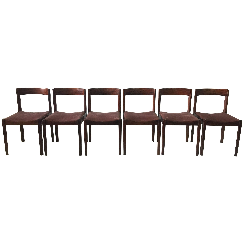 Six Fine Danish Walnut Dining Chairs