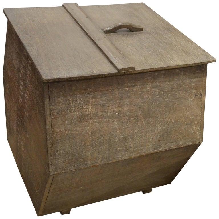 Andrianna Shamaris Wabi-Sabi Teak Wood Container For Sale