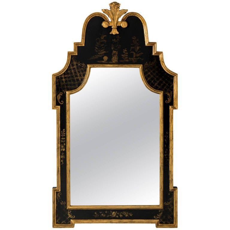 Chinoiserie Painted Giltwood Mirror