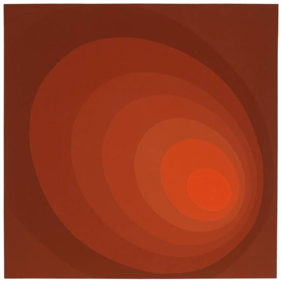 """Leonid """"Untitled (Red Ombre)"""" Silkscreen"""