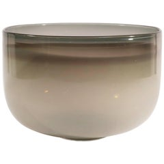Guggisberg Baldwin Nonfoux White and Grey Glass Bowl