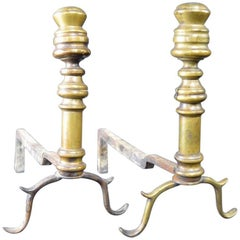 Early Pair of Chippendale Andirons