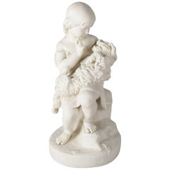 "English Copeland School Parian Figural Group ""Go to Sleep"" after J. Durham"
