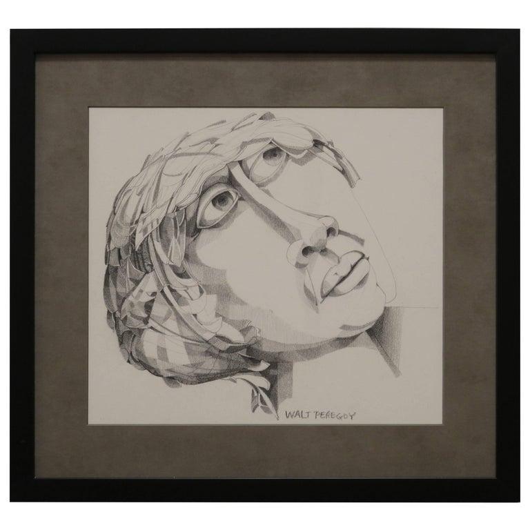 Graphite Portrait Illustration by Walter Peregoy
