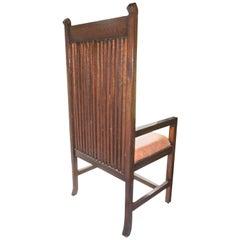 Frank Lloyd Wright Style Prairie School Oak Armchair