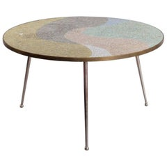 Round Berthold Muller Mosaic Coffee Table