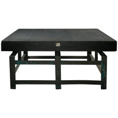 Industrial Granite Topped Machine Table with Steel Base