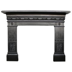 Reclaimed 19th Century Late Victorian Cast Iron Fireplace Surround