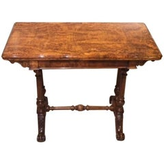 antique fold over card table edwardian walnut for sale at 1stdibs