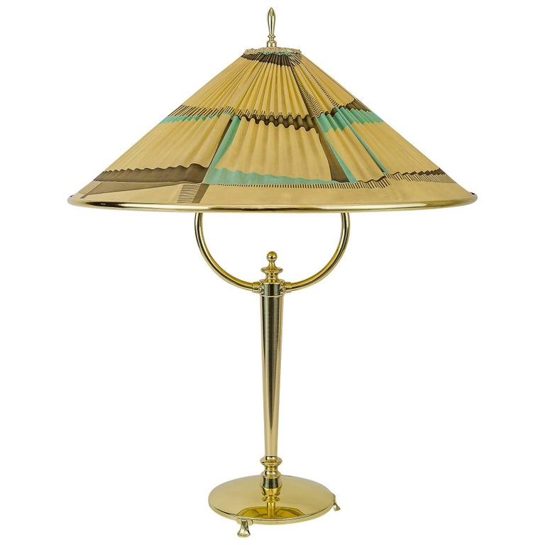 Very Beautiful Table Lamp with Original Shade, circa 1950s