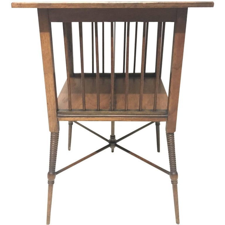 Liberty & Co, Fine Anglo-Japanese Walnut Side Table in the Style of E W Godwin