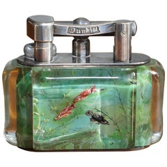 Museum Quality 1950s Dunhill Aquarium Oversized Table Lighter Made in England