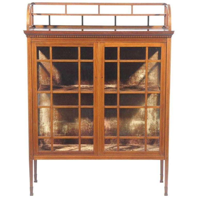 E W Godwin Attributed, Collinson & Lock, Anglo-Japanese Glazed Display Cabinet