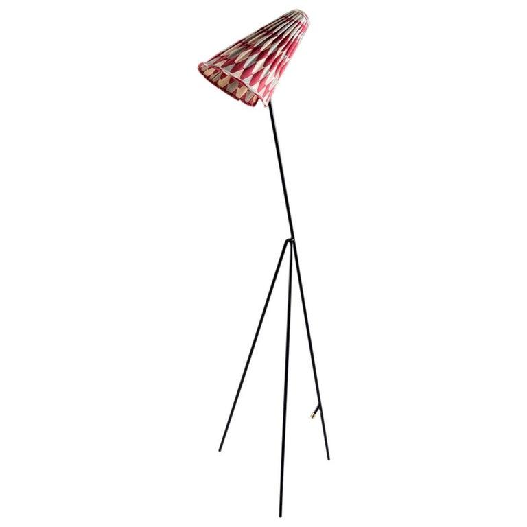 Floor Lamp by Hans Bergström for Ateljé Lyktan, 1950s, Sweden