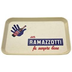 1950s Italian Vintage Plastic Ramazzotti Rectangular Bar Tray