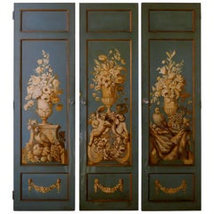 Decorative French Painted Doors