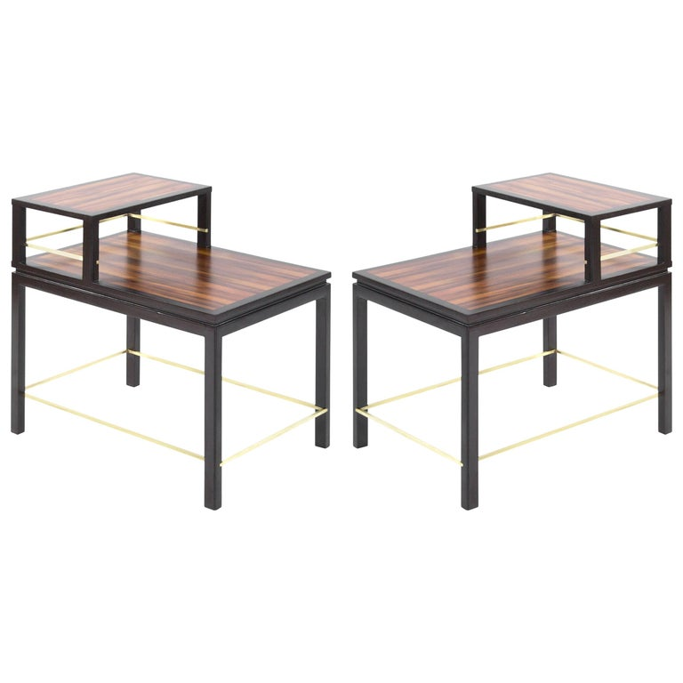 Edward Wormley for Dunbar Rosewood End Tables