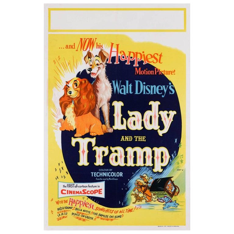 """Lady and the Tramp"" Original British Film Poster"