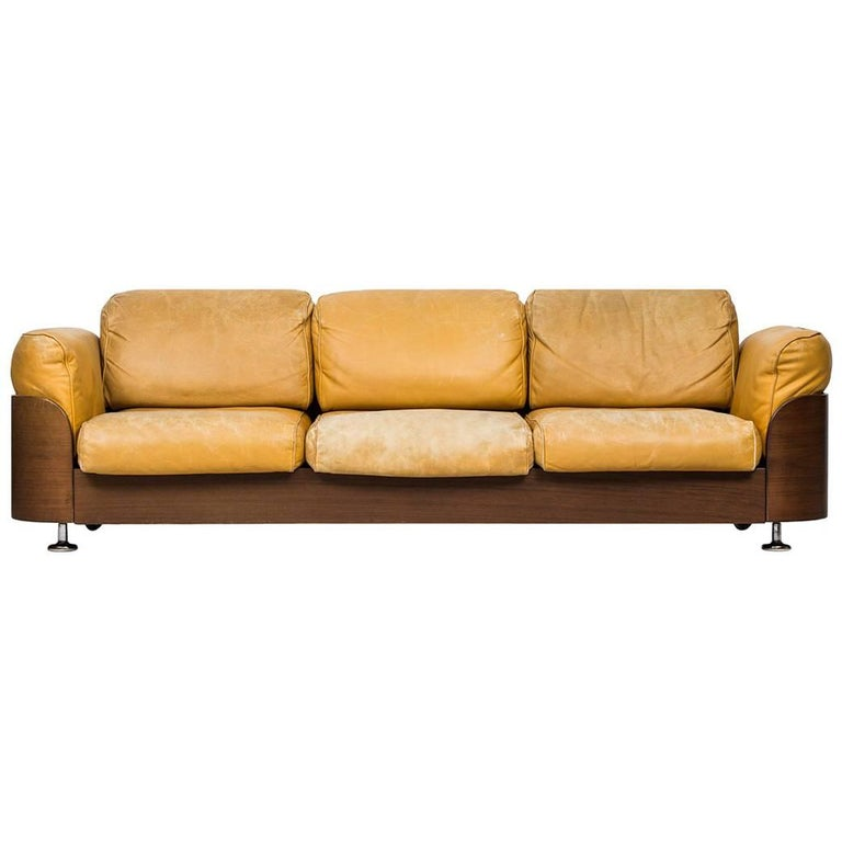 Rare Three-Seat Sofa Produced by Hämeen Kalustaja in Finland