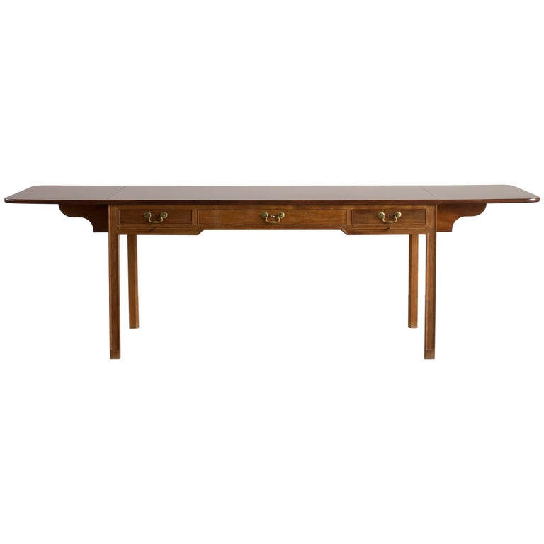 Kaare Klint Desk in Cuban Mahogany for Rud, Rasmussen