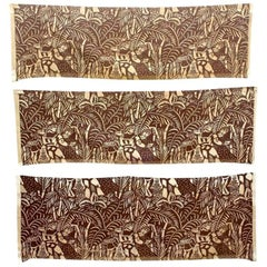 Three Panels by Raoul Dufy, 'La Danse' Printed Fabric for Paul Pioret
