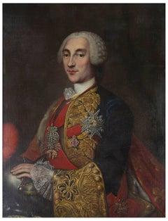 Antique Oil Painting, Prince Maperno, Oil on Canvas, Unsigned, Italy 1700s, B753