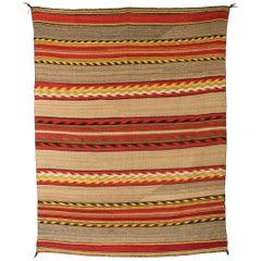 Vintage Navajo Transitional Blanket, 19th Century Banded Design