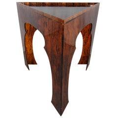 Faux Tortoise Shell Acrylic Triangle Table