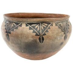 Large Historical Pueblo Pottery Dough Bowl, Cochiti, circa 1920