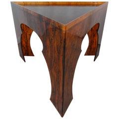 Faux Tortoiseshell Acrylic Triangle Table