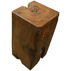 Andrianna Shamaris Organic Teak Wood Wabi Side Table