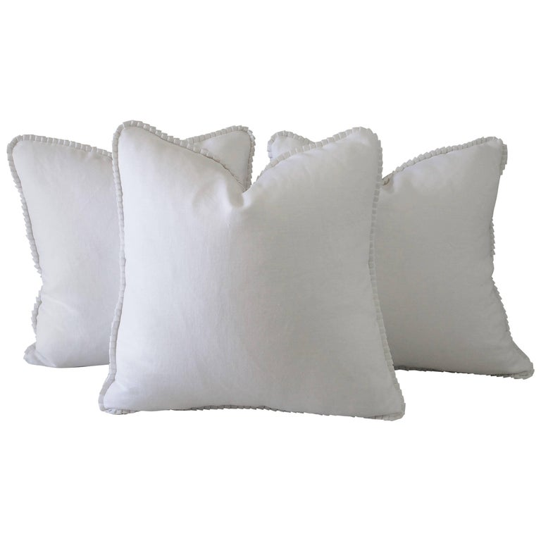 Custom-Made Luxury Linen Pillows with Ruffle