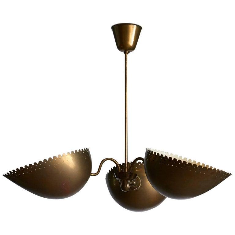 Brass Chandelier by Bertil Brisborg For Sale
