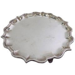 Small Antique English Silver Plated Tray
