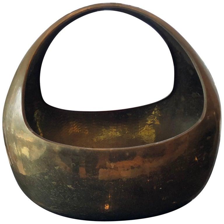 Large Vintage Brass Decorative Vessel