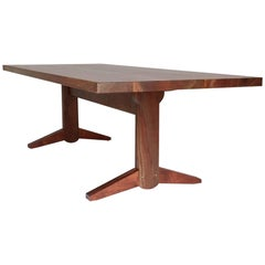 Osland Claro Walnut Trestle Dining Table