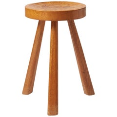 Oak Stool by Jean Touret