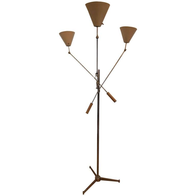 Triennale Floor Lamp by Arredoluce For Sale