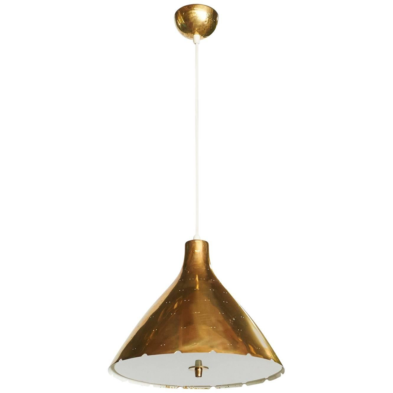 Brass Pendant by Paavo Tynell