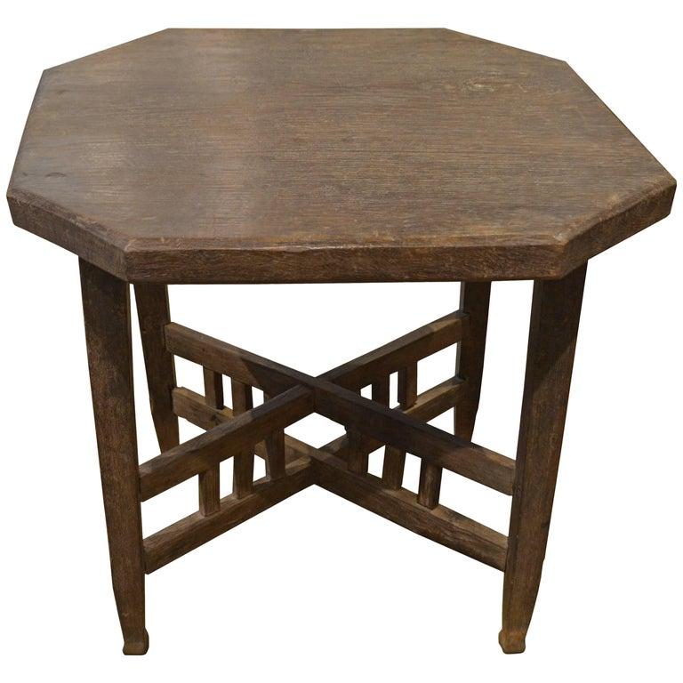 Andrianna Shamaris Wabi Teak Wood Side Table