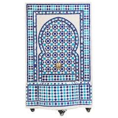 Blue Mosaic Mediterranean Water Fountain
