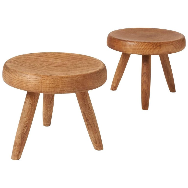 Pair of Low Stools by Charlotte Perriand