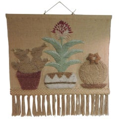 Vintage Boho-Chic Wall Hanging with Fringes