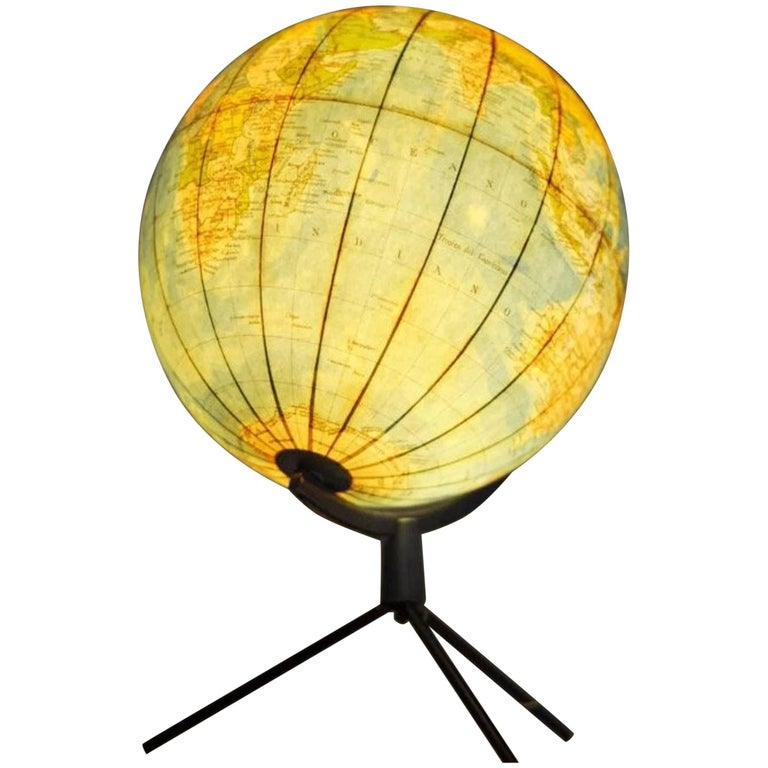 1950s Lighted Italian Globe