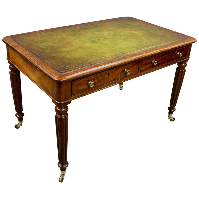 Superb 19th Century Leather Topped Mahogany Writing Table