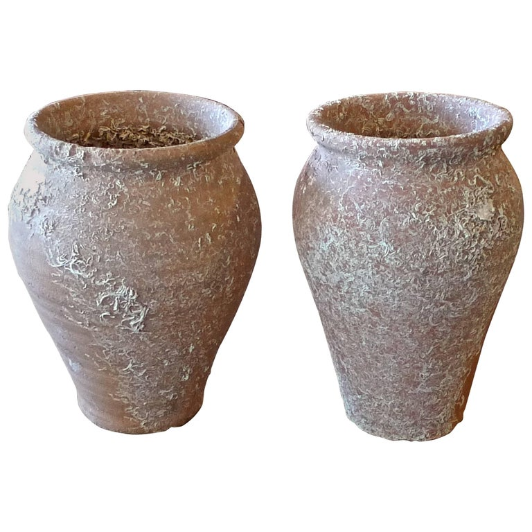 Two French 19th Century Terracotta Pots Submerged in the Mediterranean Sea