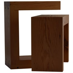 Contemporary Minimalist Wood End or Side Table by Scott Gordon