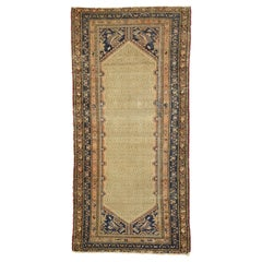 Distressed Antique Persian Malayer Runner with Warm, Feminine Rustic Style