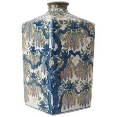 Contemporary Japanese Decorative Porcelain Vase by Master Artist