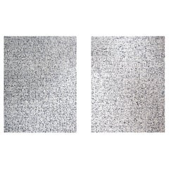 Pair of Untitled Abstract Paintings by Artist Carla Tak